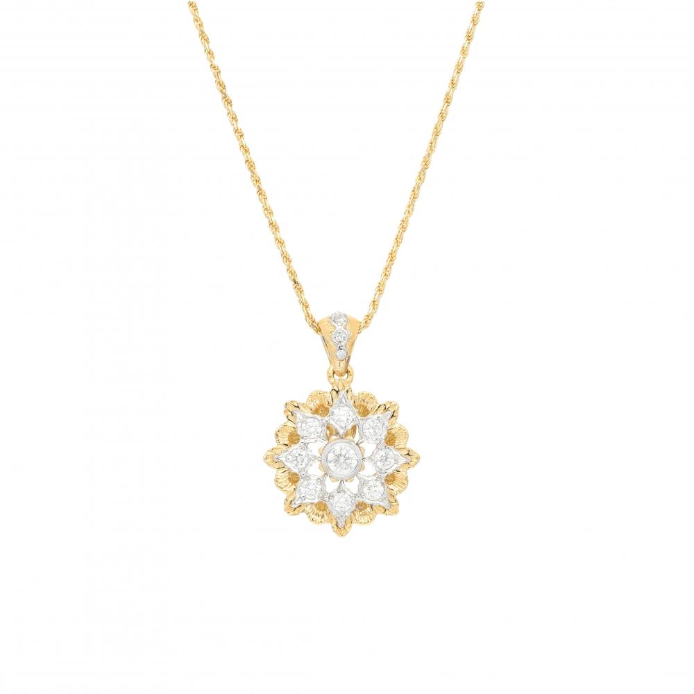 Florentine design diamonds...