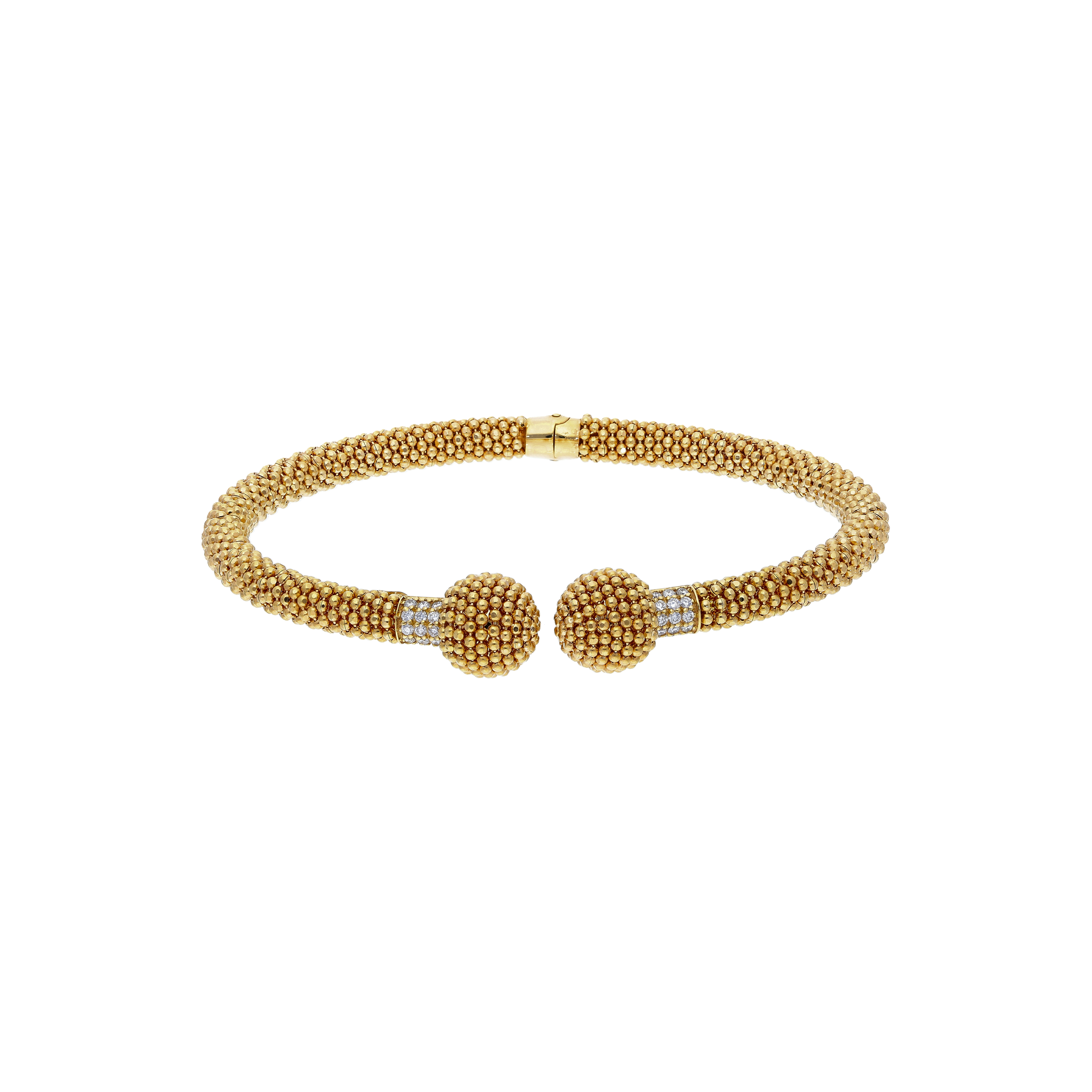 Bracelet Made of 18 Kt yellow Gold With Diamonds