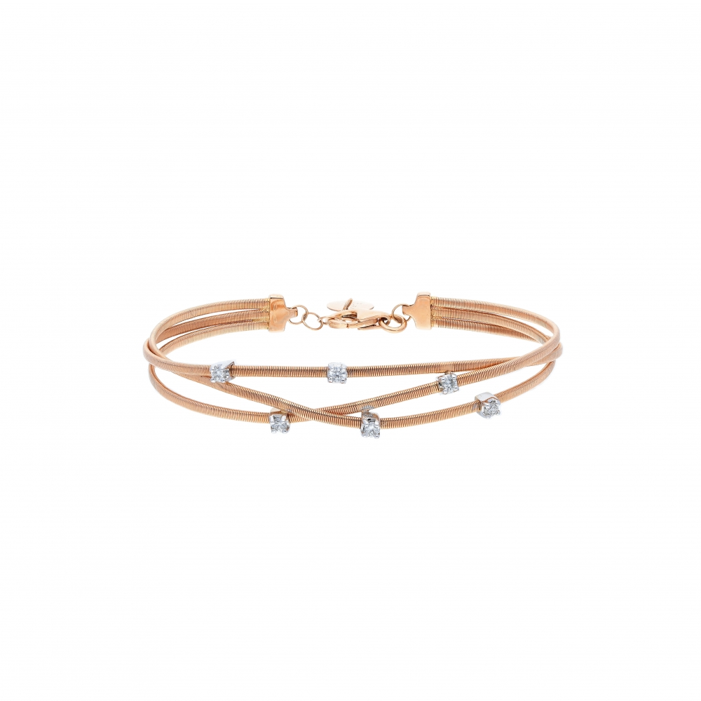 Bracelet in 18kt rose gold...