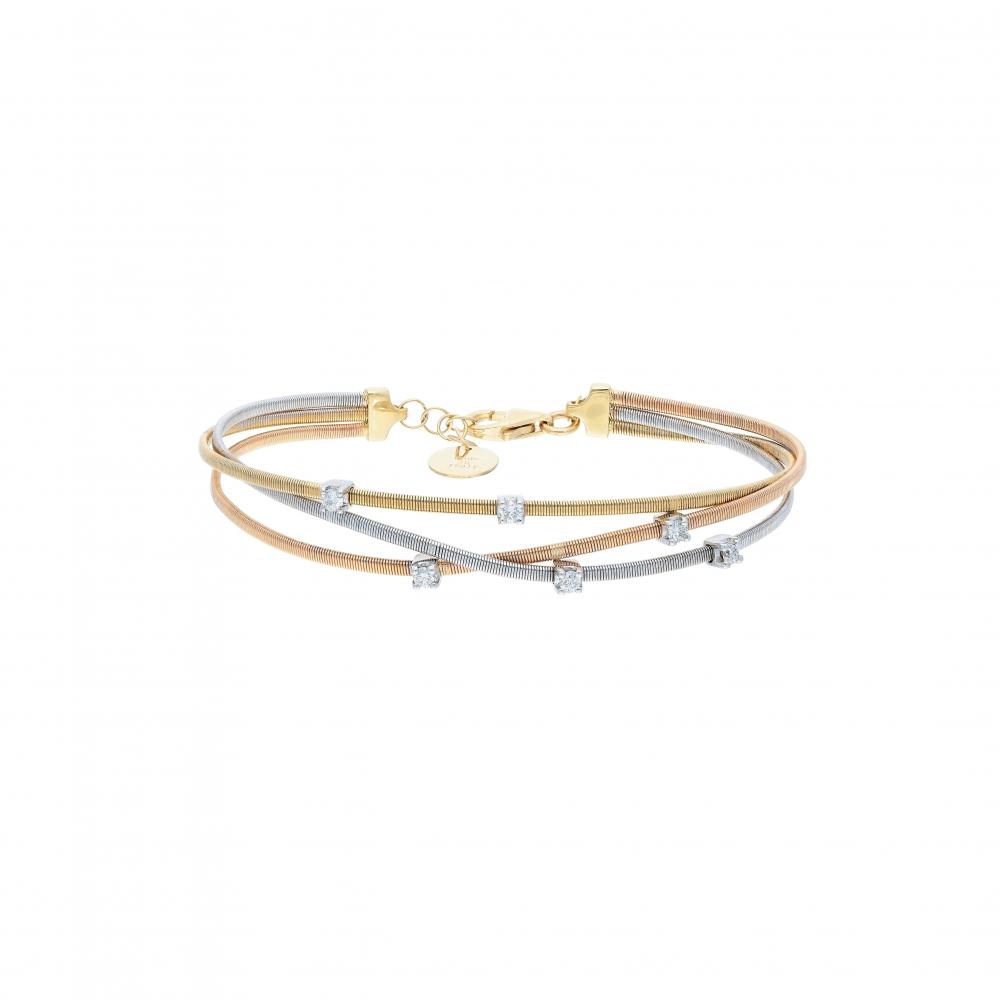 tri color Bracelet in 18kt...