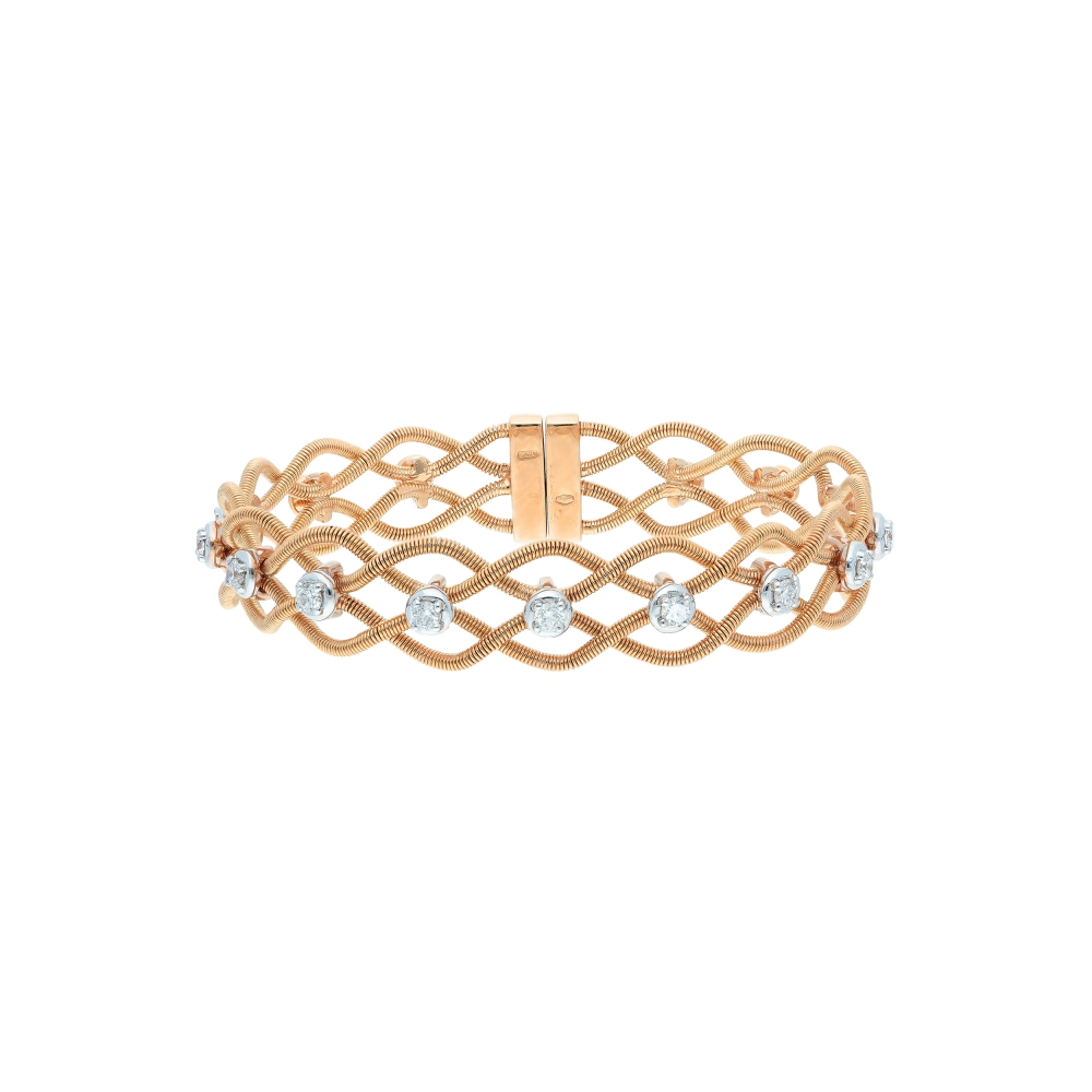 Bracelet twist gold cable...