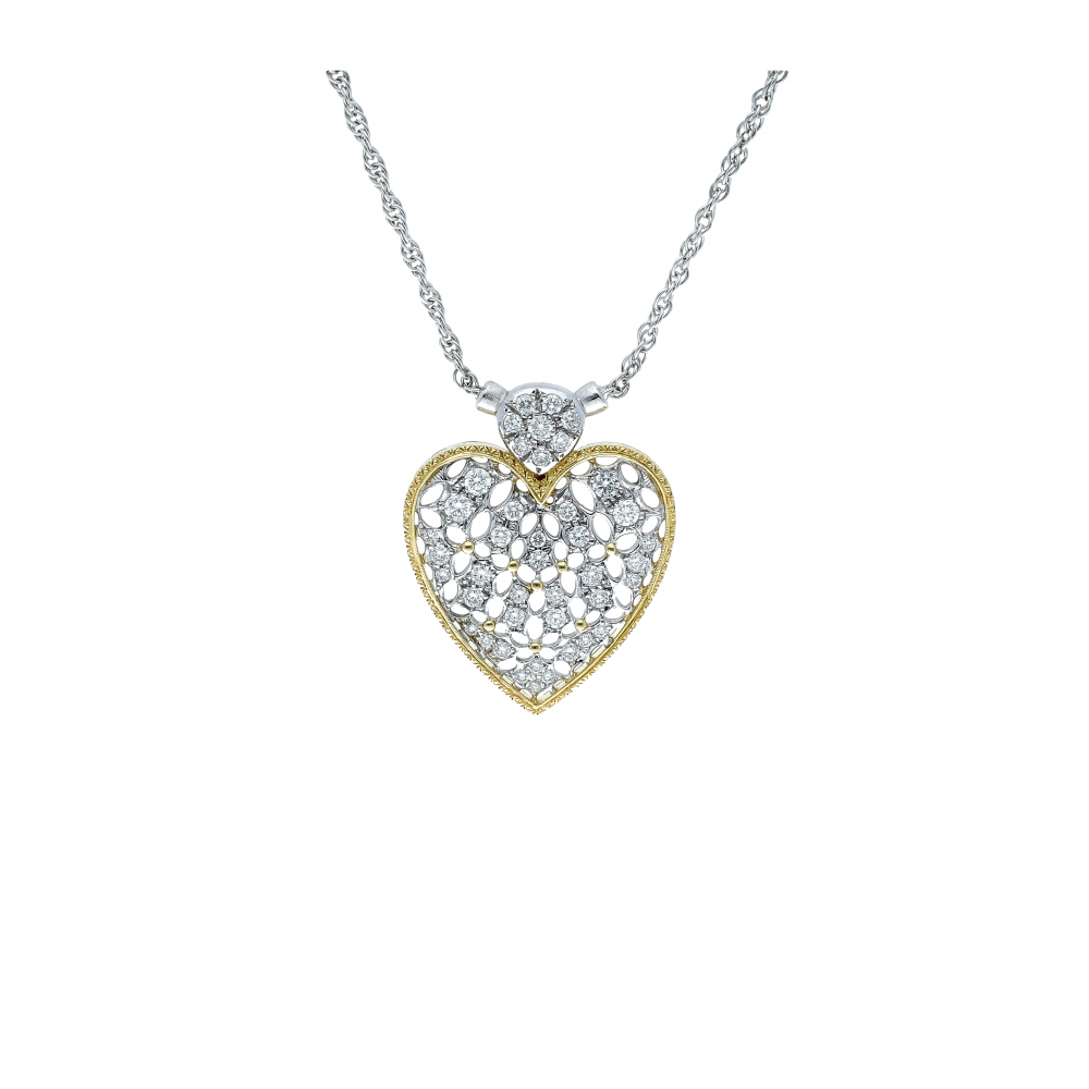 Florentine diamond heart...