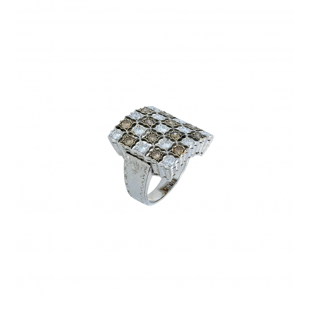 Florentine diamond ring in...