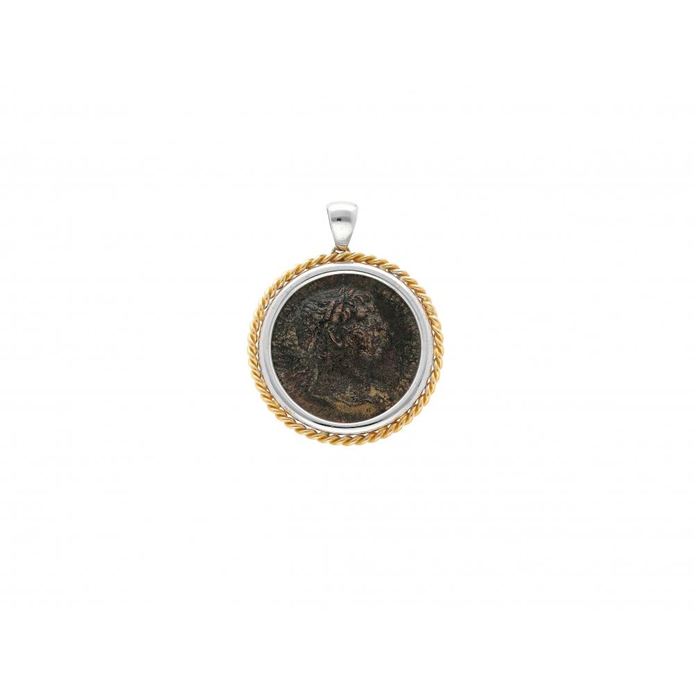 Roman Coin Pendant Emperor...