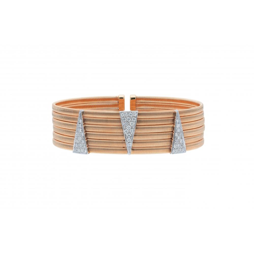 bracelet 18kt rose and...